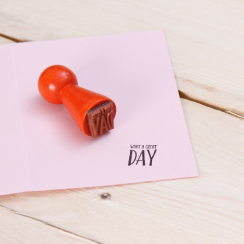 Mini-Stempel What a great day 1,5 x 1,5 cm